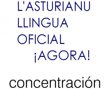 Cartelu manifestación XLI Día de les Lletres Asturianes