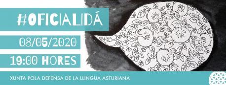 Cartelu Oficialidá XDLA XLI Día de les Lletres Asturianes horizontal