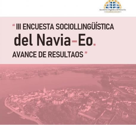 Cartelu presentación n'A Caridá del avance de la III Encuesta Sociollingüística del Navia-Eo