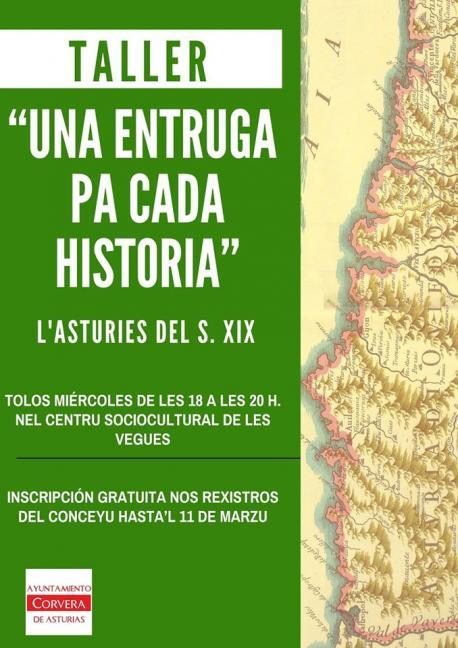 Cartelu taller 'Una entruga pa cada historia' sieglu XIX
