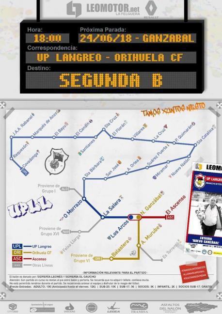 Cartelu UP Langreo-Orihuela