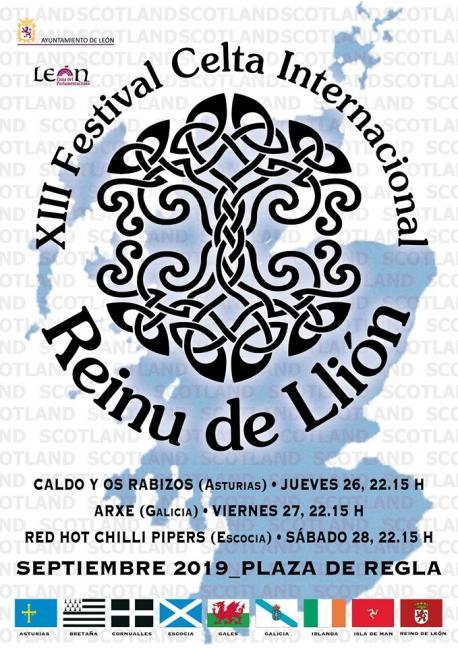 Cartelu XIII Festival Celta Internacional Reinu de Llión