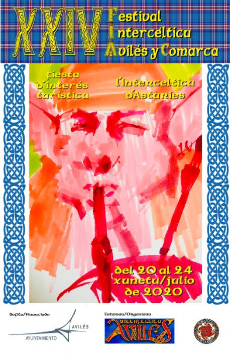 Cartelu XXIV Festival Intercélticu d'Avilés y Comarca