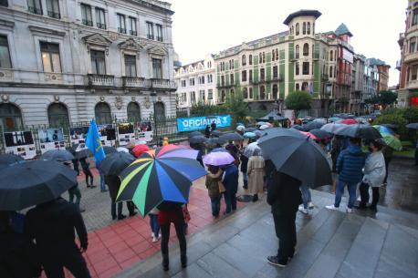 Concentración oficialidá XDLA nel XLI Día de les Lletres Asturianes