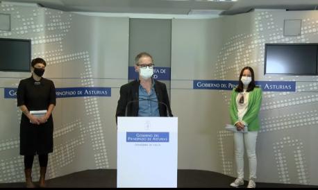 Elena María Fernández, Rafael Cofiño y Nadia García Alas burbuya social