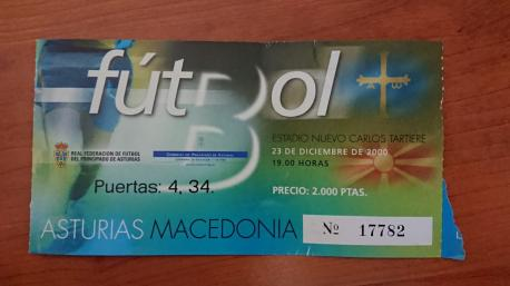 Entrada Asturies 1-0 Macedonia (23 d'avientu del 2020)