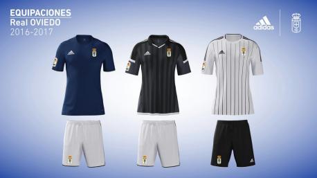 Adidas presenta les equipaciones del Uviéu pa esta temporada