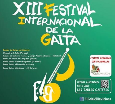 Villaviciosa celebrá dende'l xueves 30 la XIII edición del so Festival Internacional de Gaita