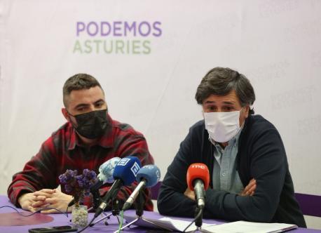 Francisco Suárez y Enrique López Hernández Podemos Presupuestos