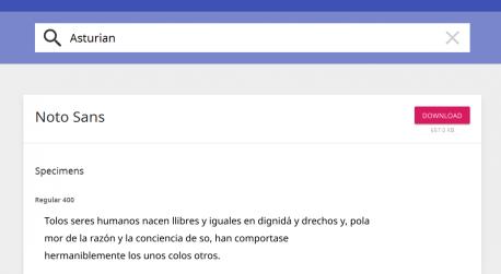 Google abre la fonte Noto, qu'inclúi la grafía del asturianu y d'otros 800 idiomes de tol mundu