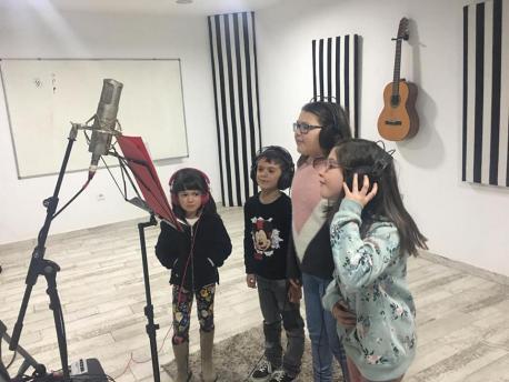 Grabación del villancicu 'En Llaviana quiero tar'