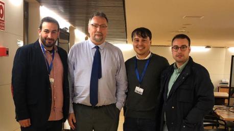 Inaciu Galán, Isidro Martínez Oblanca, Iván Llera y Xuan Pandiella nel Congresu