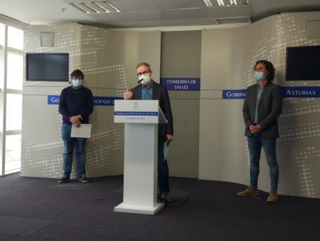 Ismael Huerta, Rafael Cofiño y Óscar Suárez vacunes