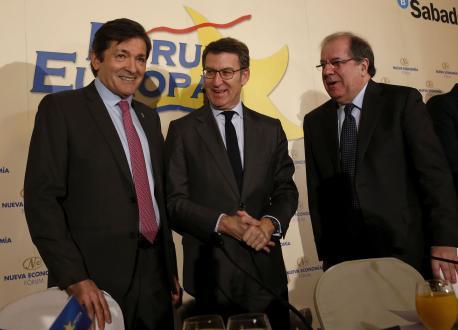Javier Fernández, Alberto Núñez Feijóo y Juan Vicente Herrera