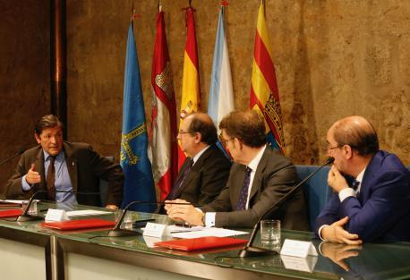 Javier Fernández, Juan Vicente Herrera, Alberto Núñez Feijóo y Javier Lambán