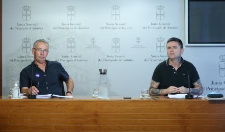 Jesús Suárez López y Rafael Palacios Archivu de la Tradición Oral d'Asturies