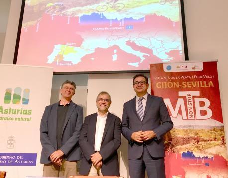 Una prueba cicloturista va xunir Xixón con Sevilla nel 2019