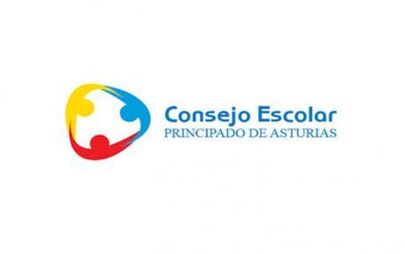 Logu del Consejo Escolar del Principado de Asturias con fondu blancu