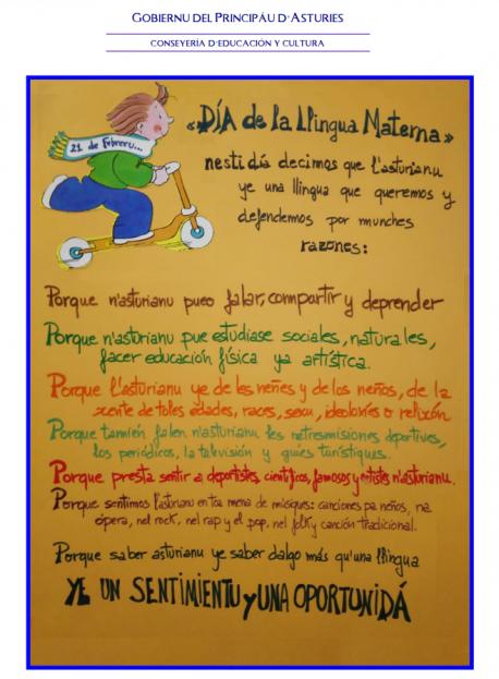 Llectura pola llingua materna nos recreos de les escueles asturianes