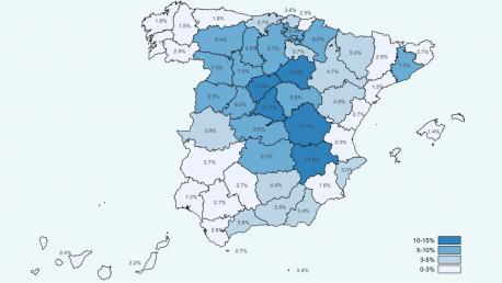 Mapa de provincies estudiu preliminar de seroprevalencia COVID-19 definitivu