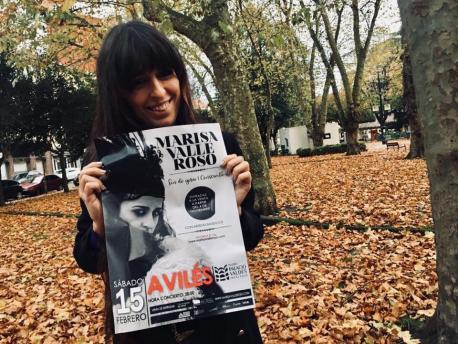 Marisa Valle Roso cartelu conciertu fin de xira 'Consciente'