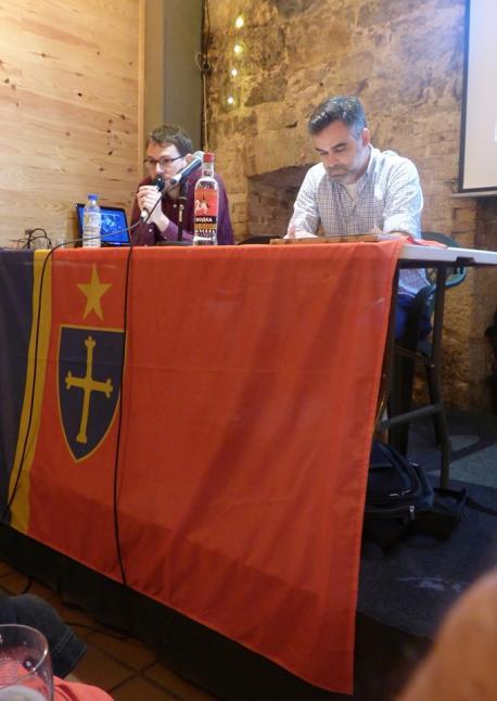 Nicolás Bardio y Xon Delacampa presentación de 'Depués d'ochobre'