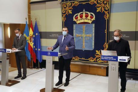 Pablo Ignacio Fernández Muñiz, Adrián Barbón y Rafael Cofiño fase 2 modificada