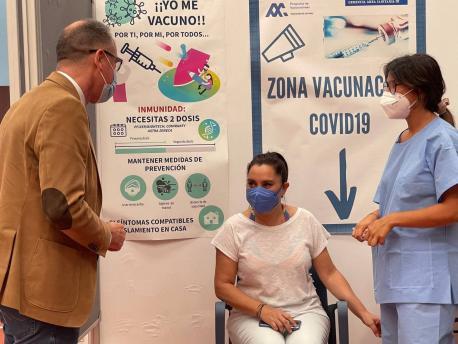 Pablo Ignacio Fernández Muñiz vacunación en Los Canapés