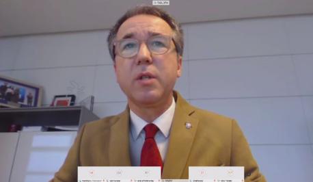 Pablo Ignacio Fernández Muñiz videoconferencia informativu grupu COVID-19