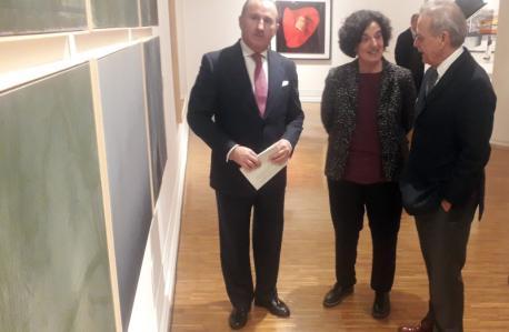 Pablo Junceda, Berta Piñán y Miquel Molins esposición Herrero
