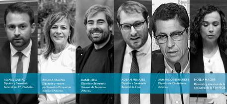 Participantes alderique 'L'asturianu énte la reforma del Estatutu, construyendo'l futuru del idioma'