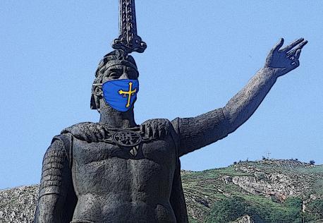 Una Día d'Asturies con mázcara