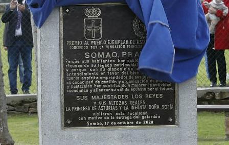Placa Somáu XXXI Pueblu Exemplar d'Asturies 2020