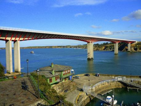 Ponte dos Santos dende Ribadeo