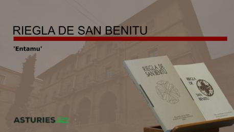 Pilar Fidalgo Pravia llee l'entamu de la 'Riegla de San Benitu' revisada pola ALLA