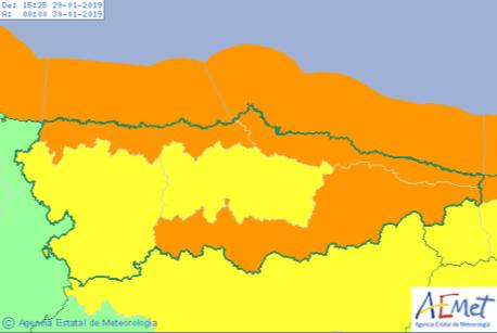Raches d'aire d'hasta 121 quilómetros per hora na mariña asturiana