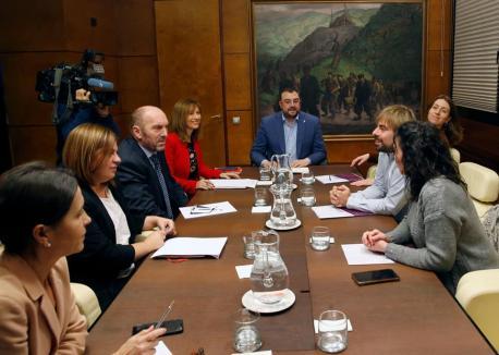 Primer xunta Presupuestos FSA y Podemos