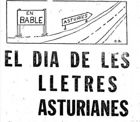 Recorte Día de les Lletres Asturianes 'La Hoja del Lunes' de Xixón