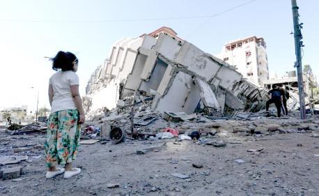 Resultáu bombardeos en Gaza