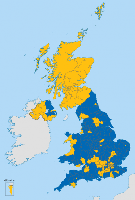Resultáu referéndum Brexit