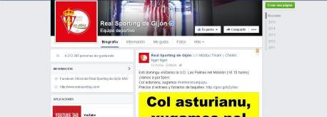El Sporting y l'Uviéu participen nun campaña de promoción del idioma