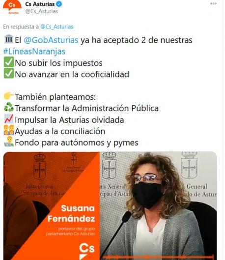 Tweet esborriáu Ciudadanos recortáu