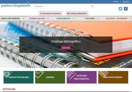 Web nueva Política Llingüística