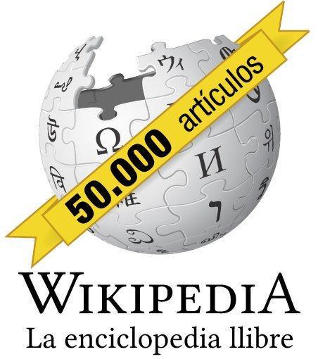 Wikipedia 50.000 artículos