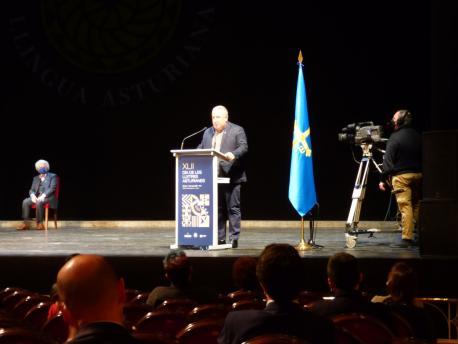 Xandru Martino nel XLII Día de les Lletres Asturienes