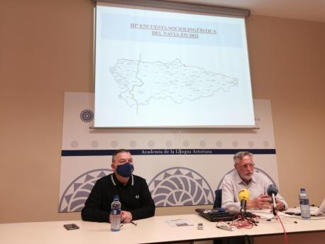 Xosé Antón González Riaño y Francisco José Llera Ramo presentación avance III Encuesta Sociollingüís