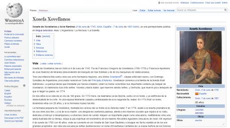Xosefa Xovellanos Wikipedia muyeres