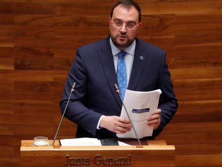 Adrián Barbón alderique d'orientación política 2021-2022