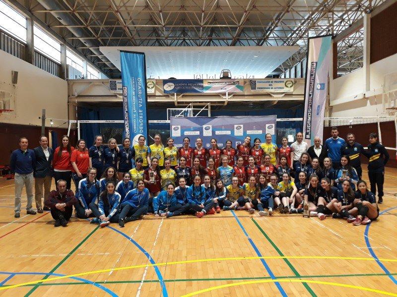 Xuegos Deportivos Escolares voleibol cadete femenín 2018-2019